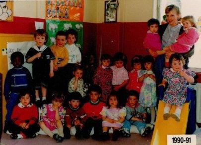 Classe Maternelle libre de Rumes en 1990