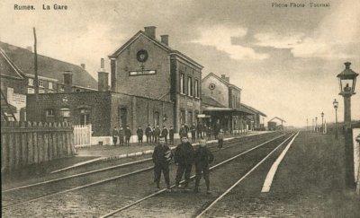la gare de rumes en 1940