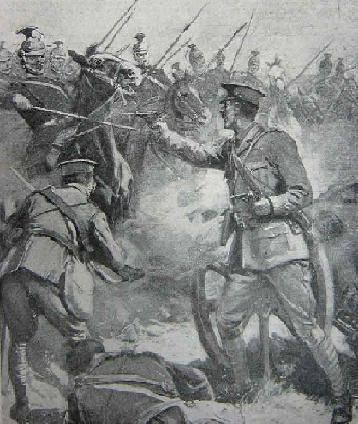 les hulans le 24 aout 1914 a Tournai