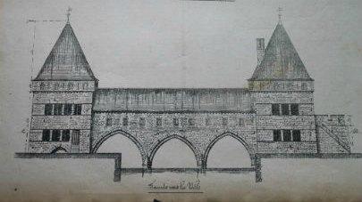 Pont des trous Tournai moyen âge