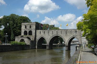 pont des trous coté ville de Tournai