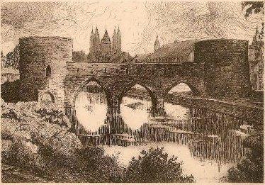 pont des trous Tournai dessin