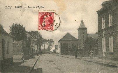 rue de l`eglise à Rumes