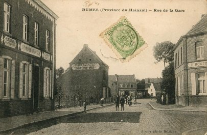 rue de la gare à Rumes