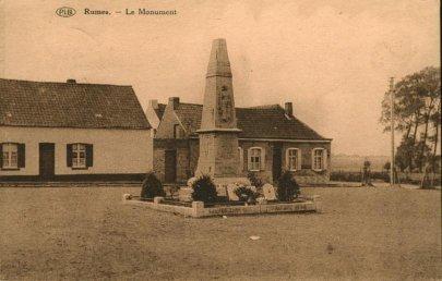 le monument aux morts de rumes