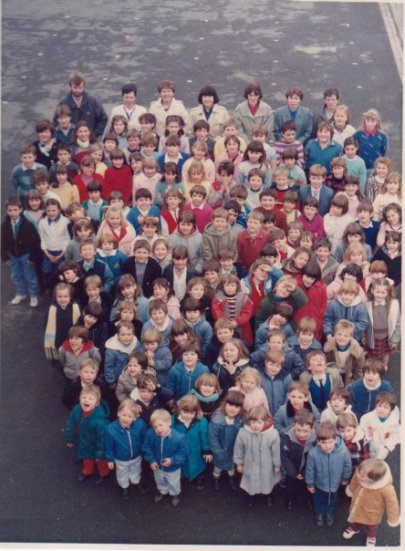 Classe Maternelle libre de Rumes en 1985