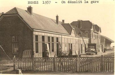 demolition de la gare en 1957
