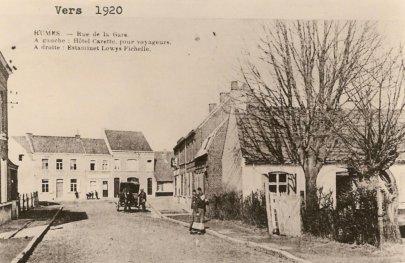 rue de la gare à Rumes 1920