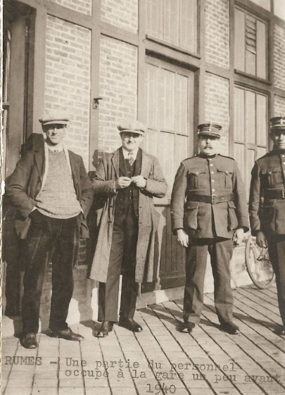personel de la gare de rumes avant 1940