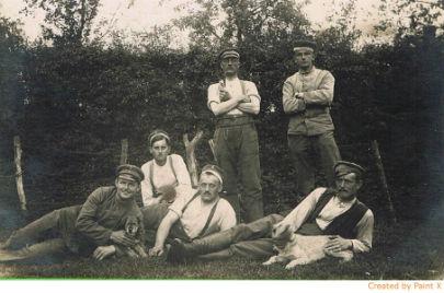 Willemeau près de Tournai 1914 soldats Allemands